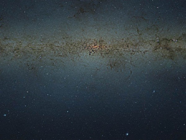The central parts of the Milky Way Galaxy.