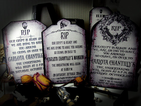 tombstone invitations