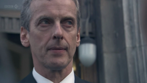 Close-up of Malcolm Tucker's face