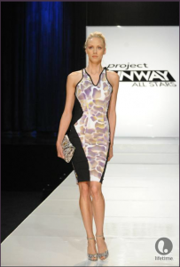Project Runway All Stars contestant Althea's knee-length, sleeveless dress.