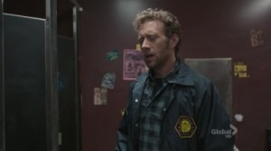 A screenshot from the TV show Bones: The character Hodgins makes a grossed out face.