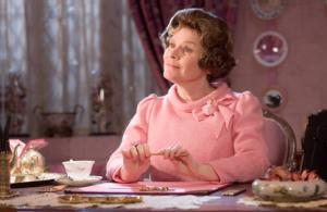Dolores Umbridge from Harry Potter.