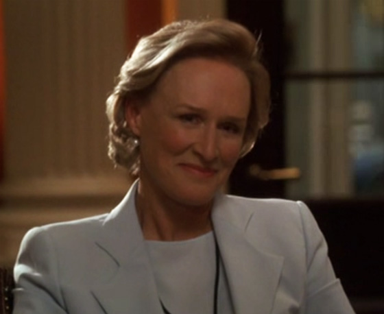 "Actress Glen Close as Judge Evelyn Baker Lang on ""The Supremes"", episode 5.17 of The West Wing."