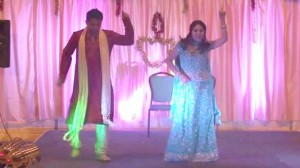 Savita dancing with husband.