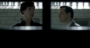 Sherlock and Moriarty in The Reichenbach Fall