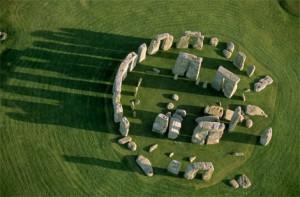 Stonehenge aerial view.