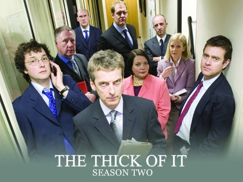 Cast photo for season 2 of The Thick of It