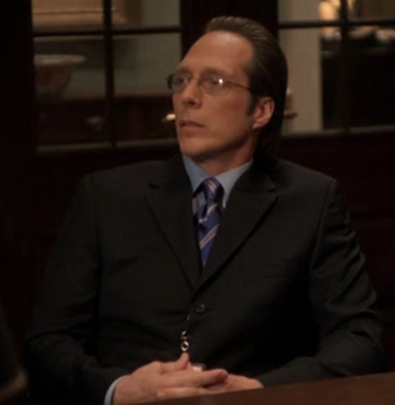 "Actor William Fichtner as Judge Christopher Mulready on ""The Supremes"", episode 5.17 of The West Wing."