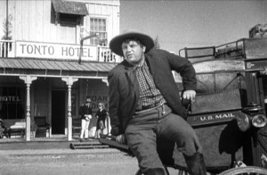 Andy Devine as Buck in Stagecoach.