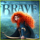 Poster for the movie Brave, showing Merida drawing her bow