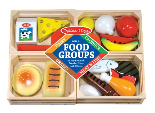 wooden toy food pieces, bread, chicken, onion, tomato, cheese, bagel