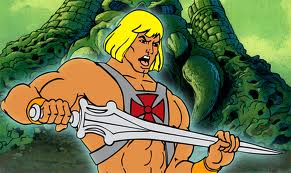 He-Man, holding his sword.