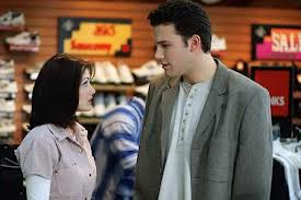 Photo of Shannen Doherty and Ben Affleck from the movie Mallrats.