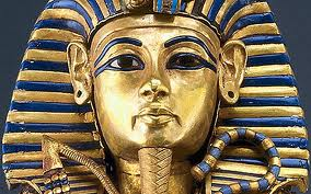 King Tut's gold mask with lapis inlay