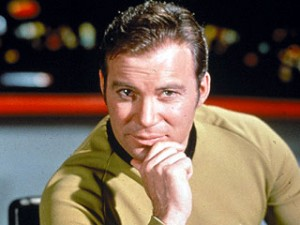 William Shatner as Captain Kirk from the original series