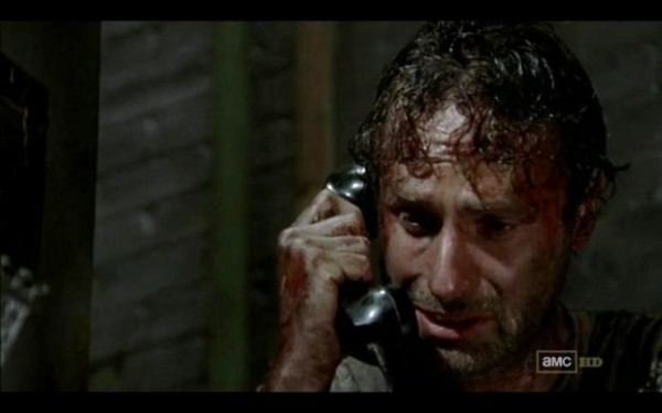Rick answers the phone