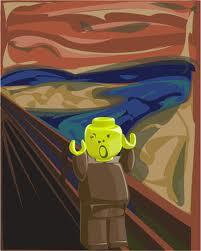 Scream Lego, by Joel Grannas: Parody of Munch's The Scream with a Lego figurine in place of the orignal screamer
