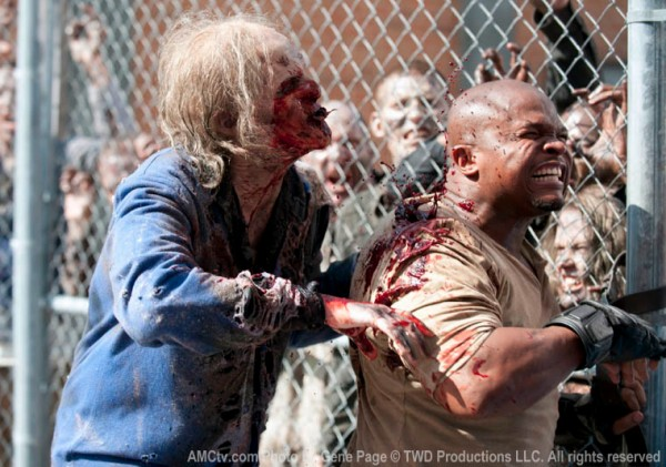 T-Dog gets bitten by a zombie