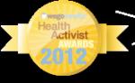 """Badge reading """"WEGO Health Activist Awards 2012"""""""