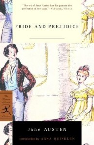 Pride and Prejudice by Jane Austen (cover)