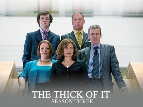 Cast photo for season three of The Thick of It