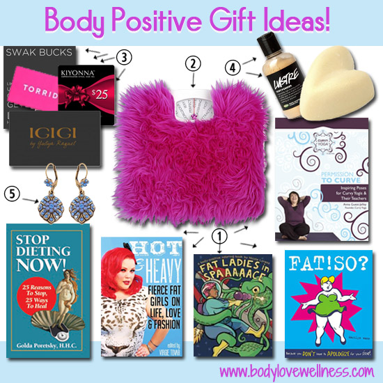 body positive gift ideas: Collage of all items listed in bullet points below