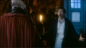 Doctor Who: The Christmas Invasion (Ten being DELIGHTFUL in a bathrobe while confronting an alien)