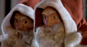 Doctor Who: The Christmas Invasion. Two robot Santas