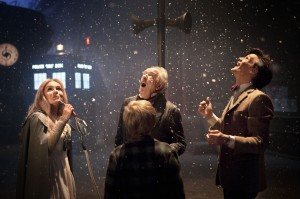 Doctor Who: A Christmas Carol (Eleven and other characters in a snowfall on Earth)