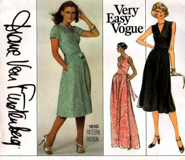 DvF wrap dress pattern from Vogue patterns.