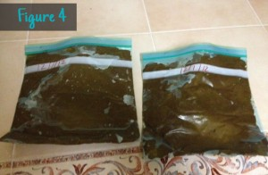 Figure 4: Leftover Henna in plastic baggies