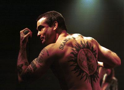 Spoken word performer Henry Rollins