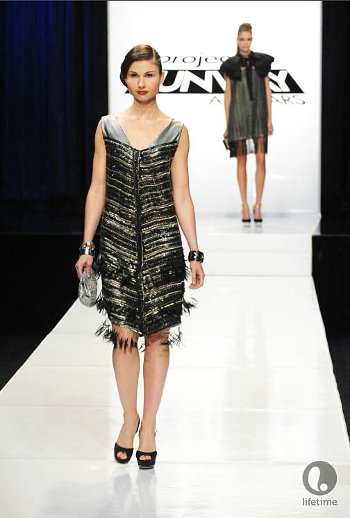 Project Runway All Star Ivys 1920s look from episode 2x08.