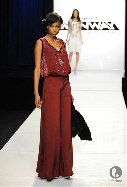 Project Runway All Star Laura Kathleen's 1920s look from episode 2x08.