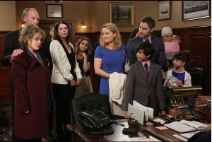 The entire Braverman clan gathered in the judge's chambers