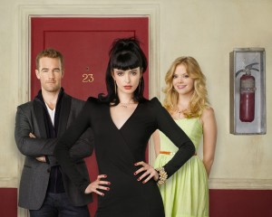Cast of Don't Trust the B----- in Apartment 23 - Krysten Ritter, James van der Beek, and Dreama Walker