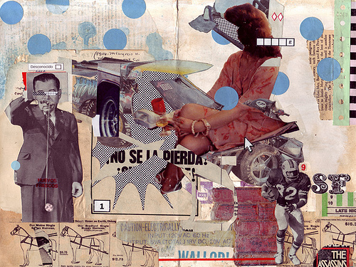 Mixed media collage, available through Creative Commons licence.