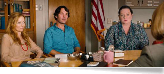 melissa mccarthy this is 40 principals office scene paul rudd leslie mann pete debbie
