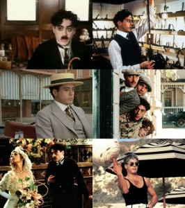 Scenes from the film Chaplin