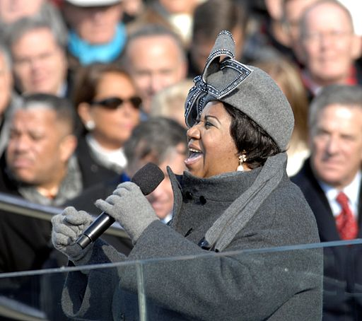 Aretha Franklin, singing at inauguration