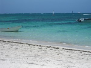 Photograph of a Caribbean beach