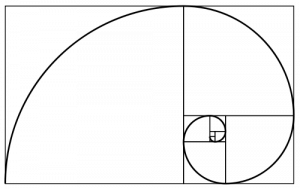 squares following the same pattern as above but with a curved line spiraling through them from corner to corner