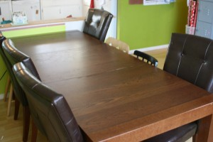 Picture of a clean dining room table