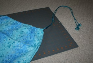 Picture of bag with drawstring.