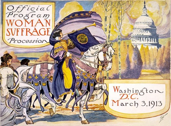 Offical Program for the Woman Suffrage Procession, March 3, 1913