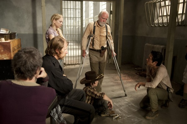 The survivors in the prison plot their plan of attack.