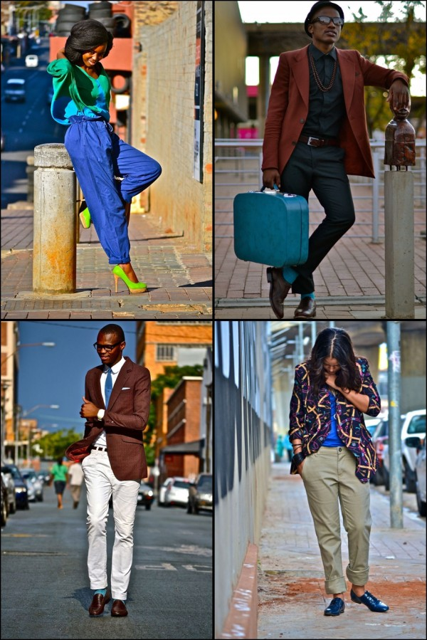 Pictures of four fashionable men and women