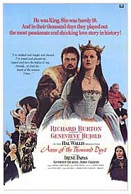 Movie poster for Anne of the Thousand Days