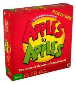 Box for the board game Apples to Apples