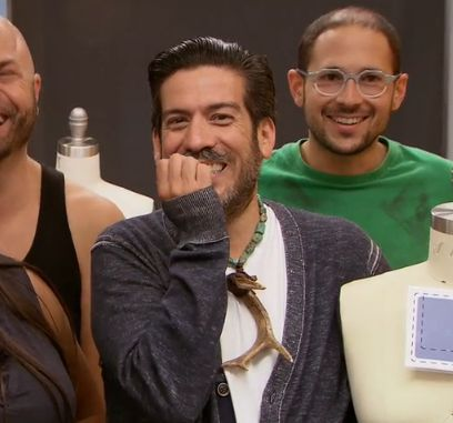 Contestants laugh at the challenge theme